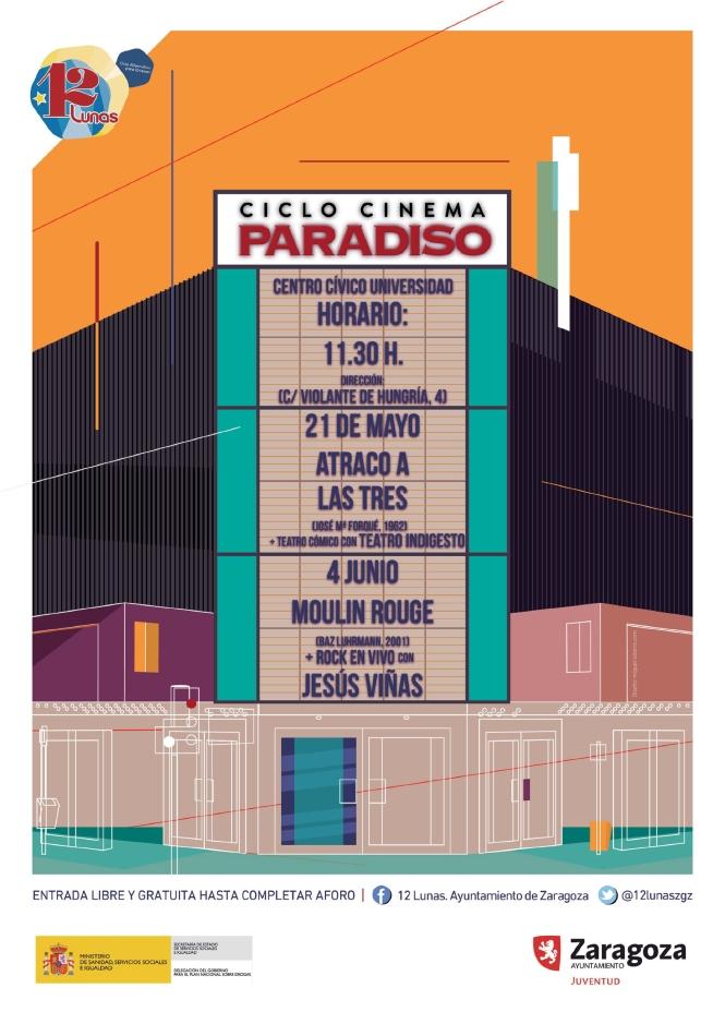 Cartel CINEMA PARADISO 12 Lunas 2017